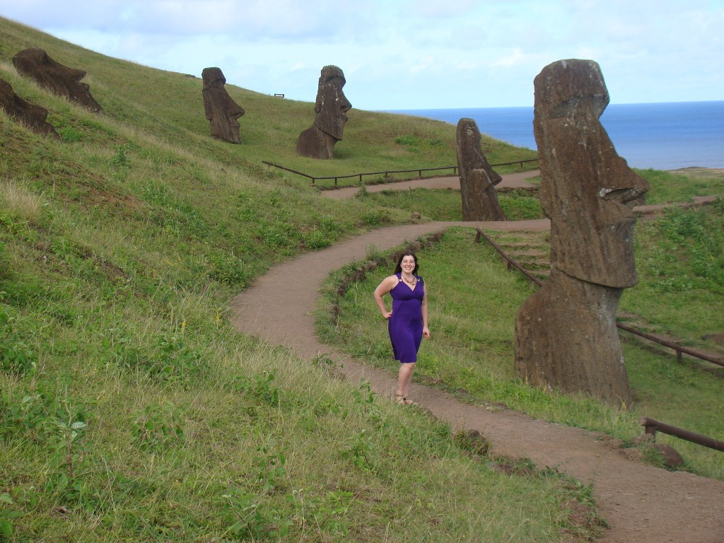 Seeing the giant statues on Easter Island!