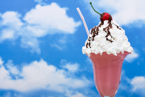 ice cream sundae in the sky