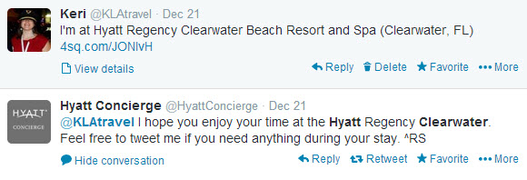 Twitter Hyatt Outreach