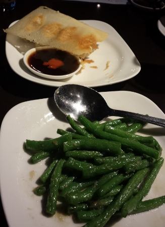 Din Tai Fun Seattle string beans potstickers
