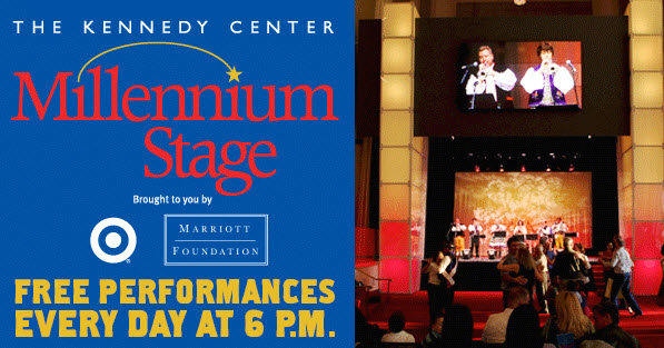 Free Performances at the Kennedy Center Millenium Stage