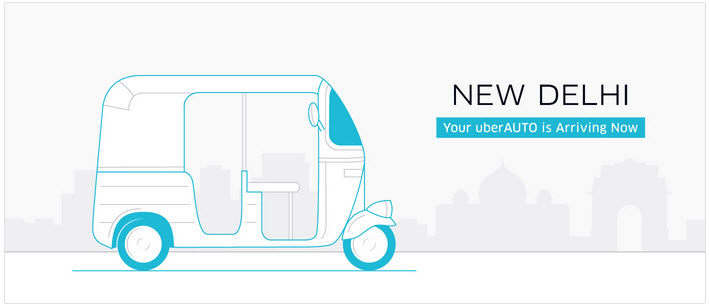 uberauto new dehli courtesy of uber