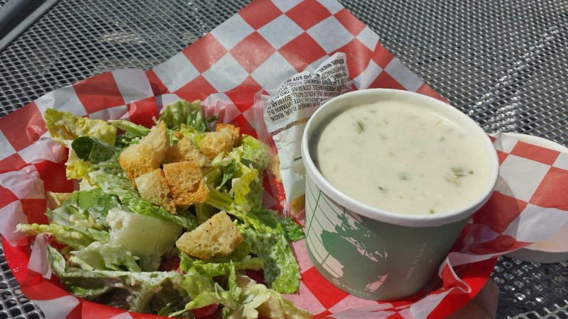 Seattle Aquarium chowder salad lunch combo