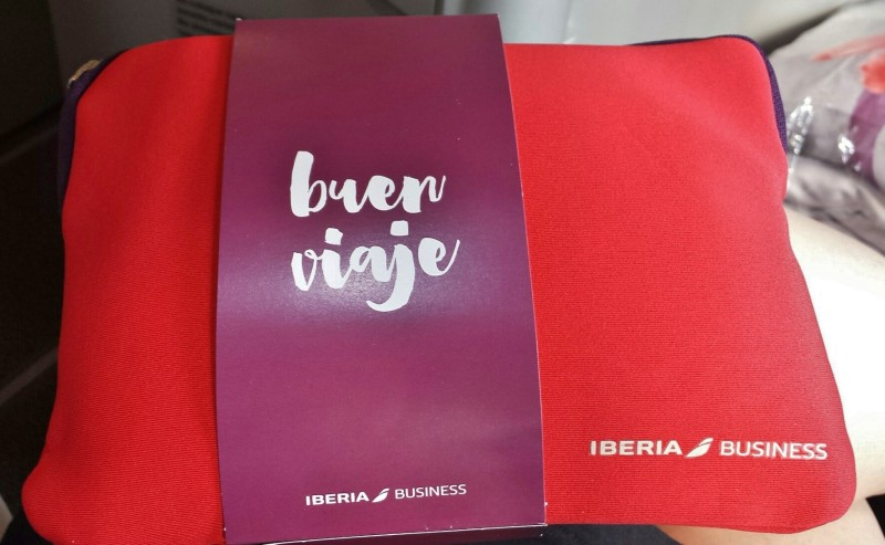 Iberia business class review jfk-mad amenity kit
