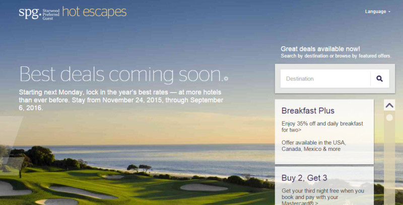 spg hot escapes discontinued