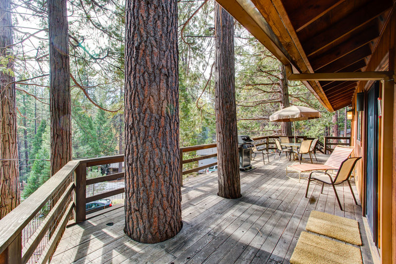 The redwoods cabin porch