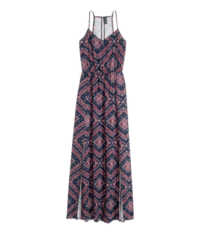 hm patterned maxi dress