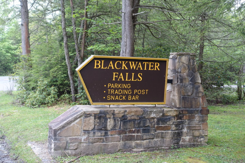 Blackwater Falls state park davis wv sign