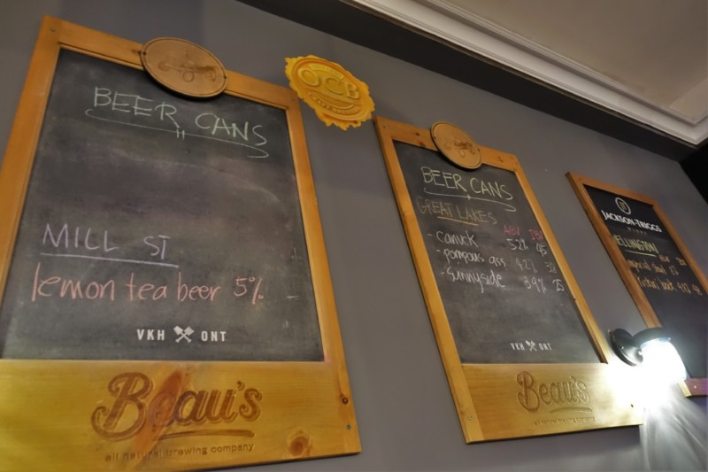 Niagara Falls Breweries Old Crow Bar & Bistro Beer List