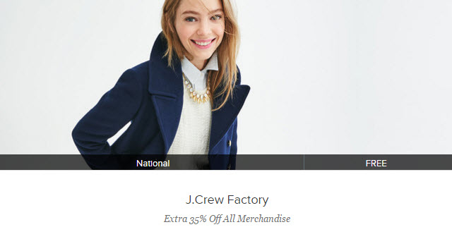 gilt jcrew 35% off offer