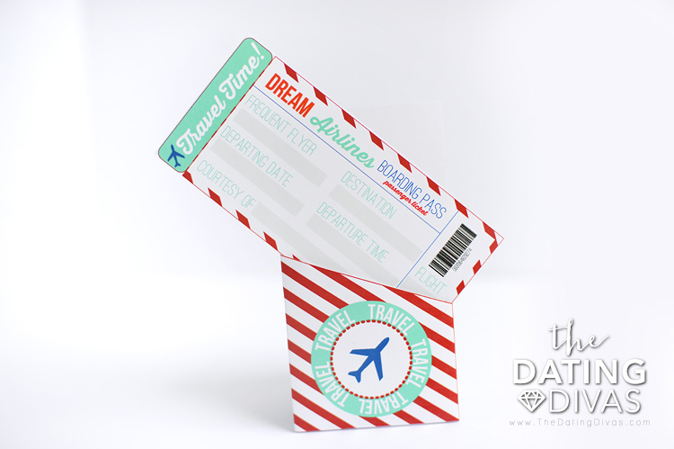Fake Plane Ticket Template With Holder