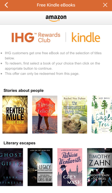 Get Free Kindle Books Through the IHG App - Heels First Travel
